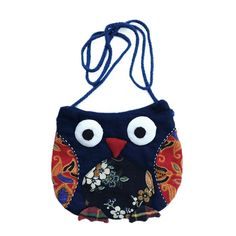 Vintage Embroidery Ethnic Owl CrossBody Shoulder Bag Handbag Purse Cute Bohemian Pattern Handmade Gifts for Girls Toddler Birthday Ideas Soft All Ages Beauty Fashion Dress up Playing (Pattern 1) ** To view further for this item, visit the image link.-It is an affiliate link to Amazon.