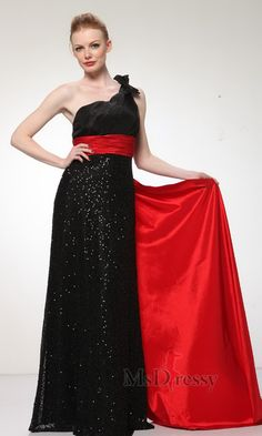 Sheath/Column One Shoulder Floor-length Satin Junior Prom Dress