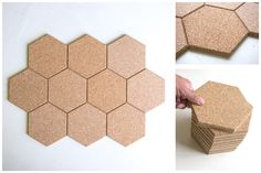Hexagon Cork Tile -