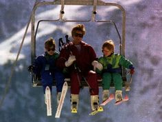 princess diana and sons | Princess Diana with Her Sons Prince William and Prince Harry on a ...