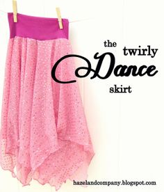 How to make the cutest twirly dance skirt! Maybe not necessarily for dance class but maybe for musical rehearsals!