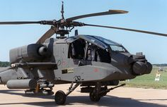 YAH-64 parked right-front view - Boeing AH-64 Apache