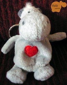 No. 111   víziló   plüss   kulcstartó   hippo   plush   keyring