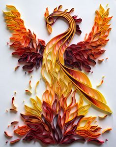 Rising Phoenix - Quilled Phoenix @mainelyquilling