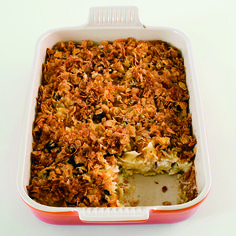 Sweet Noodle Kugel with Dried Cherries | Noodle kugel is a traditional Jewish recipe served for dessert or as a side dish. Although it's made with cottage cheese, it develops a custardy texture as it bakes slowly in a ceramic dish.