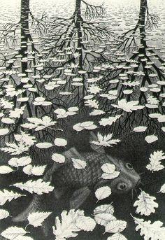 Three Worlds -Maurits Cornelis Escher