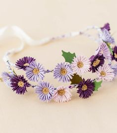 How To Make A Purple Aster Flower Crown