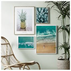 Find inspiration for creating a picture wall of posters and art prints. Endless inspiration for gallery walls and inspiring decor. Create a gallery wall with framed art from Desenio. Wall Murals, Wall Art Decor, Room Decor, Wall Collage, Frames On Wall, Plakat Design, Tropical Design, Hallway Decorating, Inspiration Wall