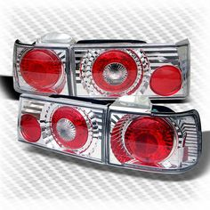 For 1990-1991 Honda Accord 4 Door Altezza Tail Lights Lamp Pair New Left+Right