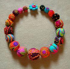 embroidered felt balls