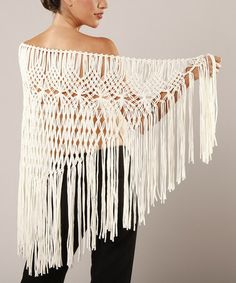 Another great find on #zulily! Ivory Macrame Shawl by Peruvian Atelier #zulilyfinds