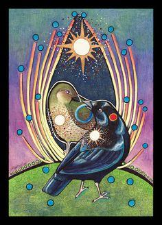 Satin Bowerbird - Totem by *Ravenari on deviantART