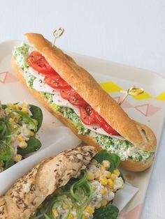 K svačině jedině rohlík se šunkou? Ale kdepak! Zkuste změnu... Třeba tenhle lahodný sendvič s brokolicí. Sandwiches, Food, Essen, Meals, Paninis, Yemek, Eten