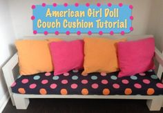 American Girl Couch Cushion Tutorial – No Sew