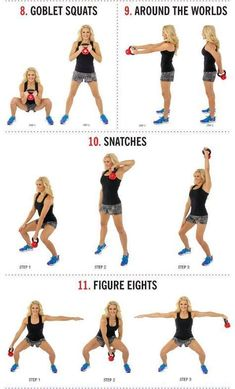 The movements used in kettlebell exercise can be dangerous to those who have back or shoulder problems, or a weak core. 14 Kettlebell Calorie Blaster Workouts Source by nourishmovelove Kettlebell Training, Kettlebell Deadlift, Kettlebell Benefits, Kettlebell Challenge, Kettlebell Circuit, Kettlebell Swings, Training Workouts, Kettlebell Exercises For Arms, Kettlebell Arm Workout For Women