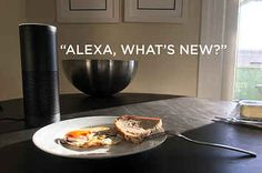 Alexa can read you a custom news briefing over breakfast. Alexa Dot, Alexa Echo, Amazon Echo Tips, Amazon Dot, Welcome To The Future, Home Automation, Smart Home, Make It Yourself, Buzzfeed News
