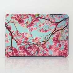 Protect your iPad with an impact resistant hard shell case featuring an extremely slim profile. #ipadcase #ipad #floral #flowers #spring #pink #nature #floweripad #flowercase #floralcase #floralipadcase