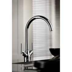 Tre Mercati Gretchen Mono Sink Mixer - Chrome from Tap Warehouse & receive huge savings off the RRP! Double Bowl Sink, Kitchen Mixer Taps, Minimalist Kitchen, Mixers, Hand Washing, Chrome Finish, Polished Chrome, Basin, Simple Designs