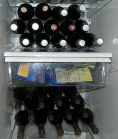 Convert a standard refrigerator into a wine refrigerator