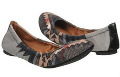 Lucky Brand EMMIE2 Arizona Blanket Gray Multicolor Ballet Flats