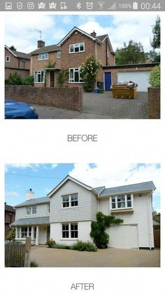 Home Renovation – Remodel Your Living Space - Home Remodeling House Cladding, Exterior Cladding, Facade House, House Windows, Home Exterior Makeover, Exterior Remodel, Rendered Houses, House Makeovers, Bungalow Renovation