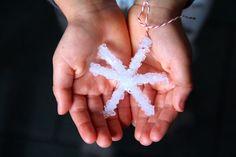 Borax Crystal Snowflakes | A Girl and a Boy