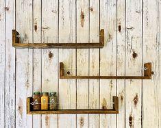 Spice rack Oven/Stove Spice Rack | Etsy Bathroom Organisation, Bathroom Shelves, Kitchen Shelves, Bathroom Storage, Wall Shelves, Spice Organization, Kitchen Stove, Kitchen Backsplash, Solid Wood Kitchens
