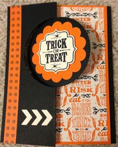 Stampin Siblings - Thinlits card with Stampin' Up! Also used Witches' Brew DSP, Tags 4 You stamp set, and Label Bracket Punch. Up Halloween, Halloween Projects, Halloween Cards, Projects For Kids, Flip Cards, Witches Brew, Thanksgiving Cards, Trick Or Treat, Stampin Up Cards