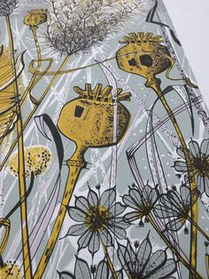 Angie lewin - autumn garden, norfolk - screen print detail f Angie Lewin, Textile Prints, Art Prints, Textiles, Norfolk, Garden Illustration, Wood Engraving, Engraving Ideas, Autumn Garden