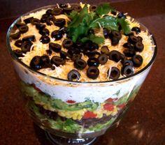 TeX MeX 7 layer salad