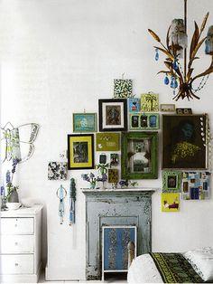 appartement londonien rustique minimaliste maison belle accumulation petits cadres mur de cadres dco chez petit chez dcorations murales
