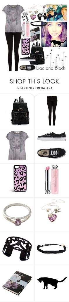 """Madison: Lilac and Black"" by music-and-fashion-111 ❤ liked on Polyvore featuring Current/Elliott, Zizzi, Vans, GUESS, Christian Dior, NOVICA, Lisa August, Pura Vida, Boho & Co and women's clothing"