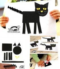 simple cat using shapes