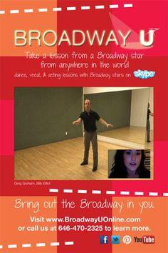 take a dance lesson from resident choreographer of BILLY ELLIOT, Greg Graham today on skype!
