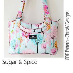 Handbag Purse PDF sewing Pattern Abigail van ChrisWDesigns op Etsy