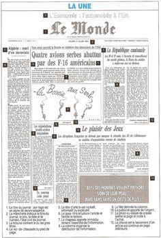 Le vocabulaire de la presse - la Une du Monde - B1 learnfrench-visitfrance.com