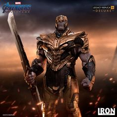 Another Avengers: Endgame statue has been revealed in the wake of the movie's release and this one puts the spotlight on Josh Brolin's Thanos after he finally got his evil hands of the Stark Gauntlet. Thanos Infinity Gauntlet, The Infinity Gauntlet, Star Lord, Thanos Marvel, Marvel Comics, Infinity War, Figurine Avengers, The Avengers, We Movie