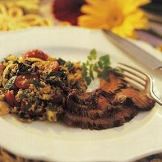 Flank Steak with Coffee-Peppercorn Marinade - EatingWell.com