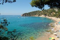 Camping Cala Llevado Tossa De Mar Surrounded by pine forests, this campsite enjoys stunning, unspoilt views over the bay of Cala Llevadó on the Costa Brava. The wooden bungalows include a private terrace and kitchenette.