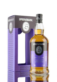 The 2016 release of the ever popular and multi-award winning Springbank 18 year old. Created from 80% sherry & 20% bourbon casks, bottled in limited numbers at 46%. Springbank Whisky, Scotch Whisky, Whiskey, Single Malt Whisky, Bentley Continental, Year Old, Bourbon, Wines, Vodka Bottle
