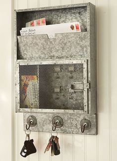 A place for the keys and the mail! To cute