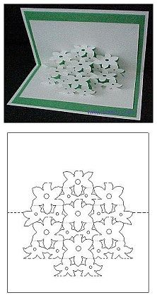 floral bouquet pop-up card