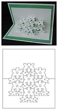 floral bouquet pop-up card