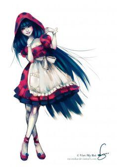 Digital Illustrations by Viet-My Bui Ladybug Y Cat Noir, Ladybug Comics, Miraclous Ladybug, Ladybugs, Anime Lobo, Anime Miraculous Ladybug, Red Riding Hood, Disney Art, Female Characters