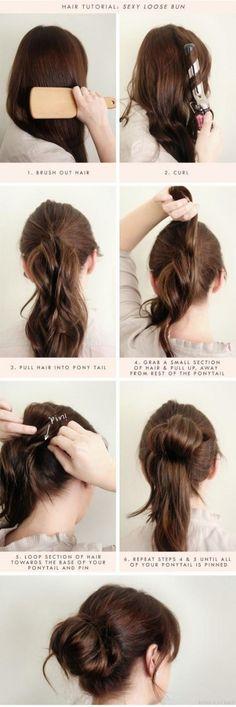 Loose Hair Bun Tutorial
