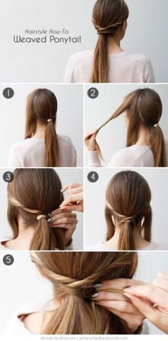 WEAVED PONYTAIL   Easy hairstyles for women   quick and easy hairstyles for girls   very easy hairstyles for business women   35 Very Easy Hairstyles to do in Just 5 Minutes or Less