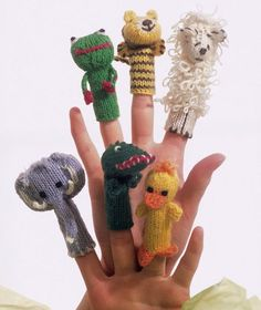 Finger Puppets #knit #free_pattern