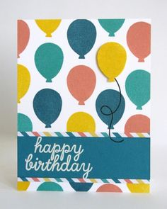Stampin' Up Paper Pumpkin May 2015 Kit-Birthday Cards