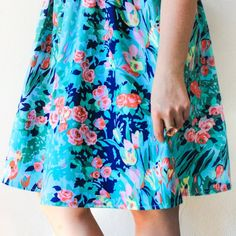 Learn to make your own gathered skirt, a perfect addition to any spring wardrobe!