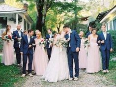 New wedding cakes navy blush bridesmaid dresses ideas - Wedding Colors Pink Wedding Centerpieces, Boho Wedding Decorations, Blush Bridesmaid Dresses, Blue Wedding Dresses, Bridesmaids, Wedding Pics, Trendy Wedding, Wedding Cakes, Wedding Ideas